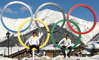 German athletes at the Olympics