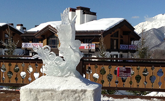 Olympic Ice Sculpture