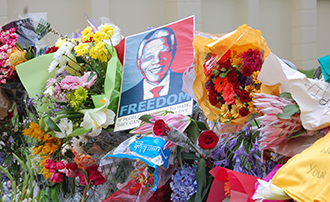 Memorial Flowers for Nelson Mandela