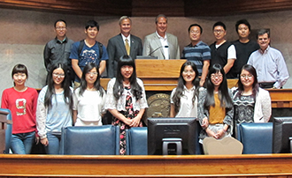 Sun Yat-sen students at Indiana Statehouse