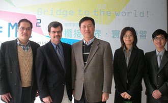 Professor Wilson with Professors in Taiwan