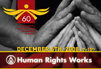 Logo for the 60th Anniversary of the Universal Delcaration of Human Rights