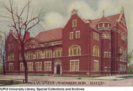 Antique postcard with an image of the Maennerchor Building