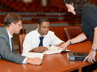 Health Law Review students study together