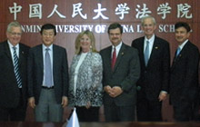 Indiana University McKinney School of Law faculty with Chinese faculty