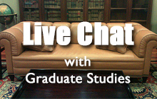 Image for Graduate Studies live chat
